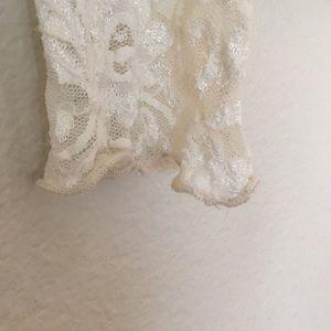 Harlow Tops - Vintage lace button down blouse